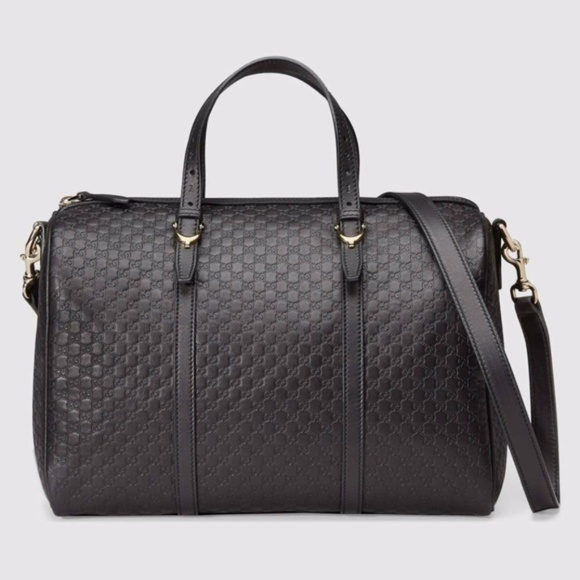 1ec1fb4add16 Gucci Bags | New Black Leather Micro Gg Ssima Boston | Poshmark